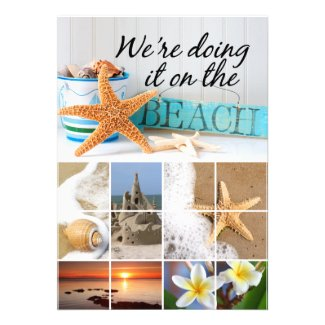 Starfish We're doing it on the Beach Wedding Personalized Invites