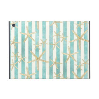 Starfish, White Finger Ocean Shells Beach Striped Cases For iPad Mini