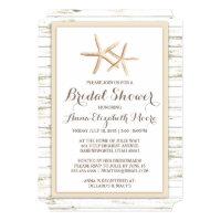 Beach bridal shower invitations announcements zazzle starfish whitewashed wood beach bridal shower filmwisefo