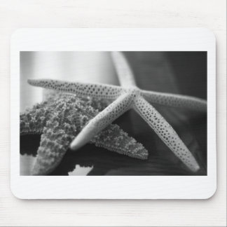 Starfishes mono mouse pad