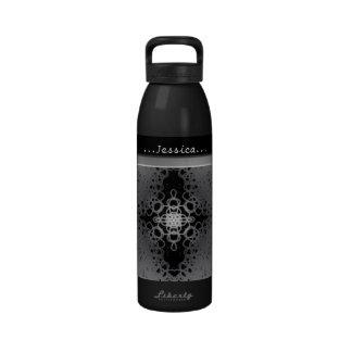 Starflake (Black on White) Drinking Bottles