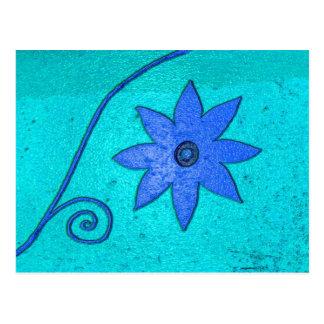 starflower blue postcard