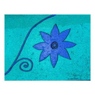 starflower blue poster