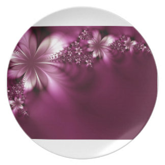 Starflower Melamine Plate