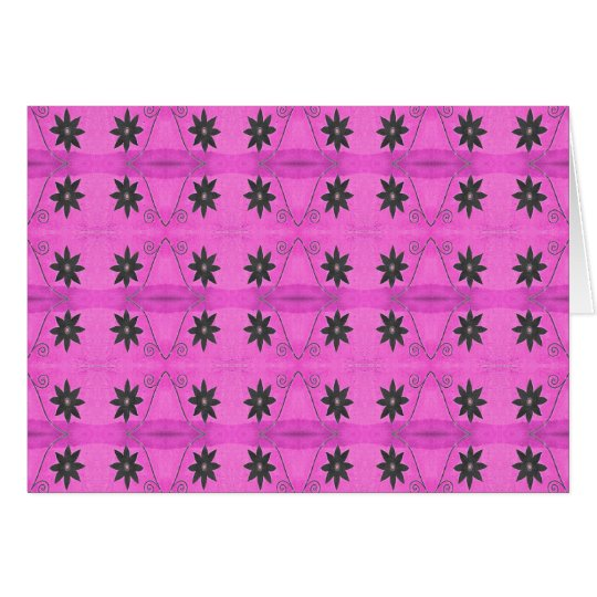 starflowers on pink card