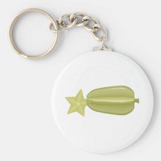 starfruit basic round button keychain