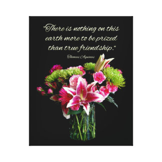 Stargazer Bouquet Friendship Quote Canvas Print