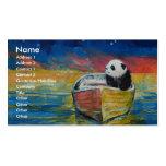 Stargazer de la panda tarjetas de visita