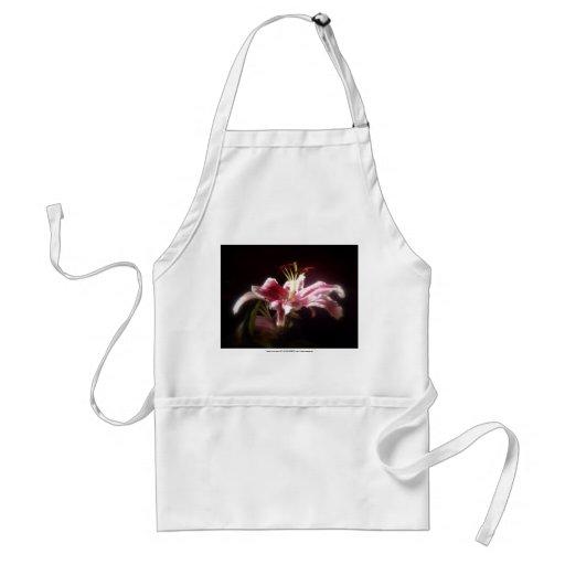 stargazer lilies #15 adult apron