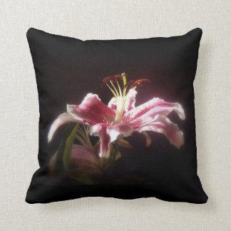 stargazer lilies #15 throw pillow