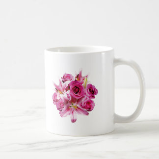Stargazer Lilies and Roses Mugs