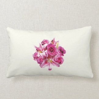 Stargazer Lilies and Roses Throw Pillow