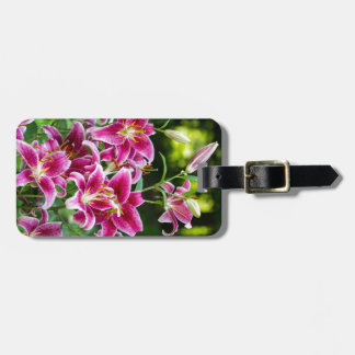 Stargazer Lilies Bag Tag