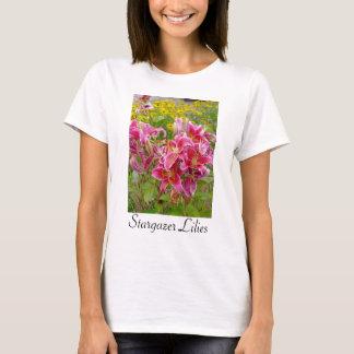 Stargazer Lilies Flowers T-shirt