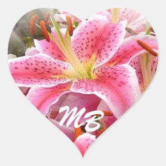 """Stargazer"" Lilies Heart Sticker"