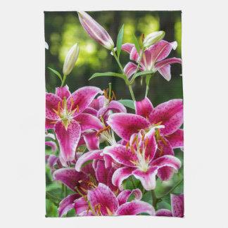Stargazer Lilies Hand Towel