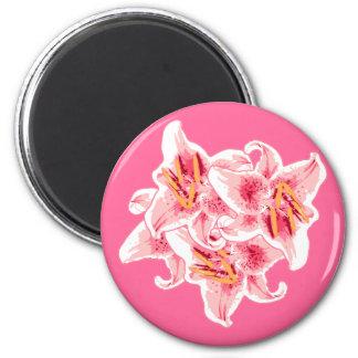 Stargazer Lilies Magnet