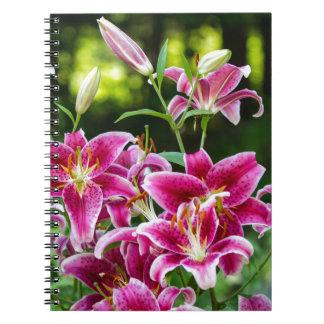 Stargazer Lilies Notebook