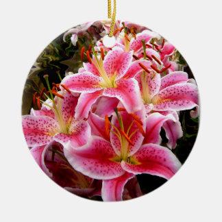 """Stargazer"" Lilies Christmas Ornaments"