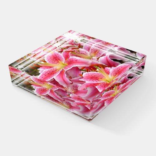 Stargazer Lilies Paperweight