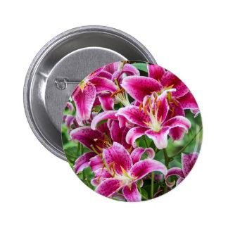 Stargazer Lilies Pinback Button
