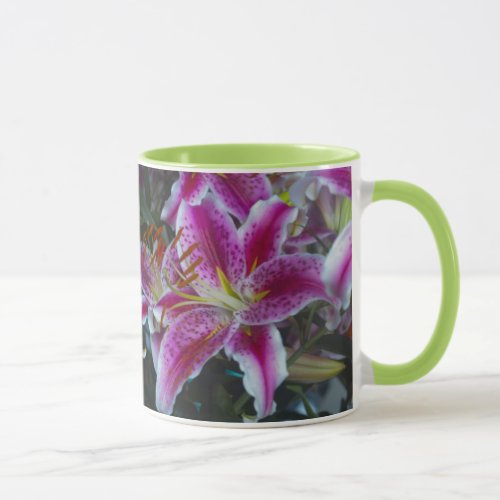 Stargazer Lilies Pink & Magenta Mug