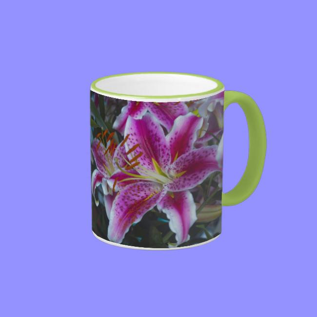 Stargazer Lilies Pink & Magenta Mugs