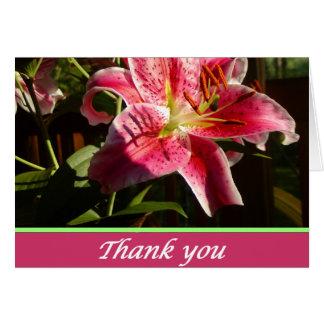 Stargazer Lilies Thank you Card