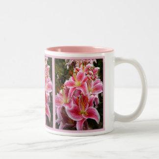 """""""Stargazer"""" Lilies Two-Tone Coffee Mug"""
