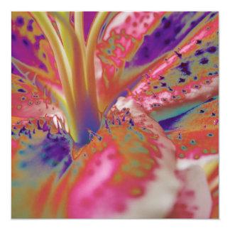 Stargazer Lily Abstract Birthday Invitation