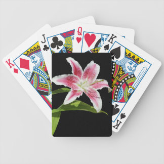 Stargazer Lily Bicycle Playing Cards