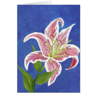 Stargazer Lily Blank card