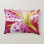 Stargazer Lily Bright Magenta Floral Accent Pillow