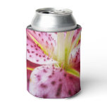 Stargazer Lily Bright Magenta Floral Can Cooler