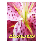 Stargazer Lily Bright Magenta Floral Magnetic Card