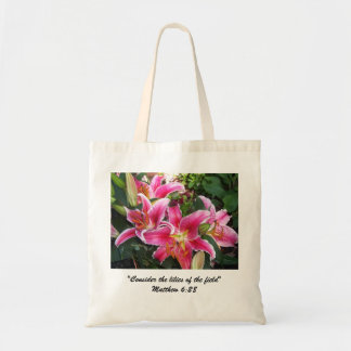 Stargazer Lily Budget Tote Bags