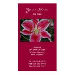 Stargazer Lily Business Cards