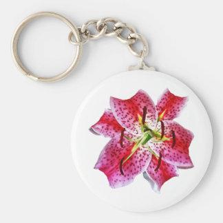 Stargazer Lily Closeup Keychains