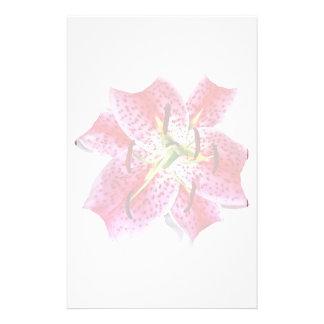 Stargazer Lily Closeup Stationery