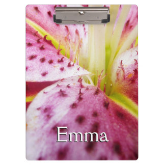 Stargazer Lily Colorful Abstract Pink Floral Clipboards