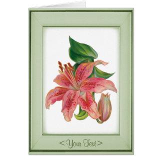 Stargazer Lily - Customize Greeting Card