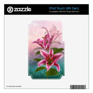 Stargazer Lily Decals For iPod Touch 4G