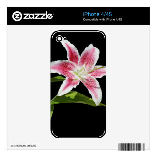 Stargazer Lily Decals For The iPhone 4