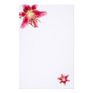 Stargazer Lily Decorated Blank Stationery
