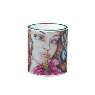 Stargazer Lily Fairy Goddess Mug