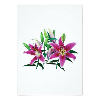 Stargazer Lily Family Card