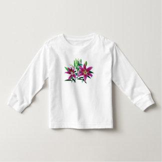 Stargazer Lily Family Kids Tee Shirt