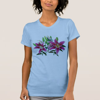Stargazer Lily Family Ladies T Shirt