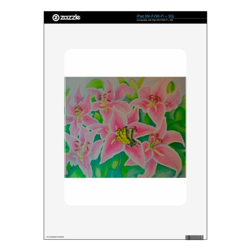 Stargazer lily flowers skins for the iPad