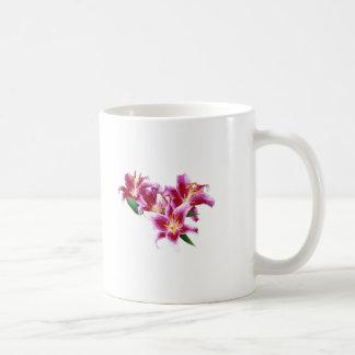 Stargazer Lily Heart Coffee Mugs